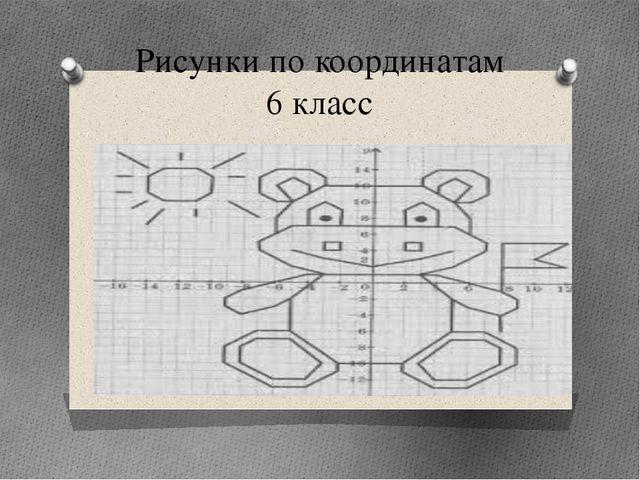 Рисунки по координатам 6 класс