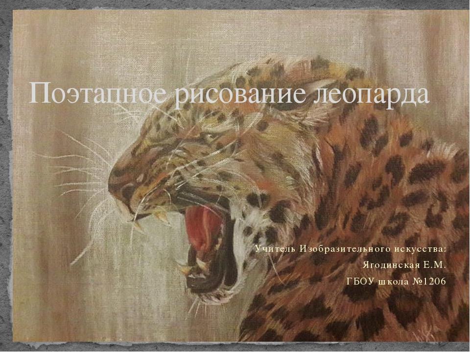 Учитель Изобразительного искусства: Ягодинская Е.М. ГБОУ школа №1206 Поэтапно...