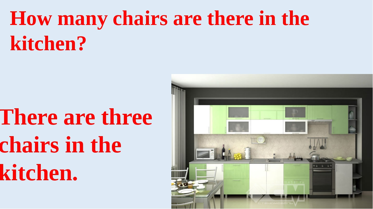 How many chairs are there in the kitchen? There are three chairs in the kitch...