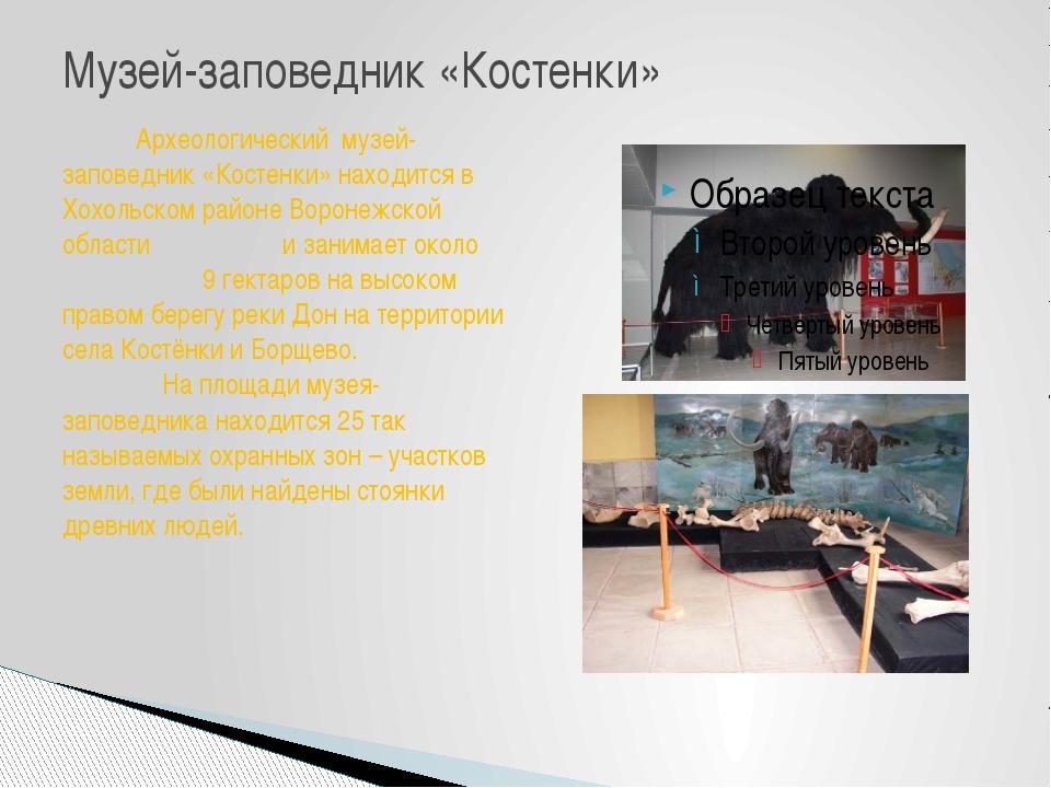 Музей-заповедник «Костенки» Археологический музей-заповедник «Костенки» наход...