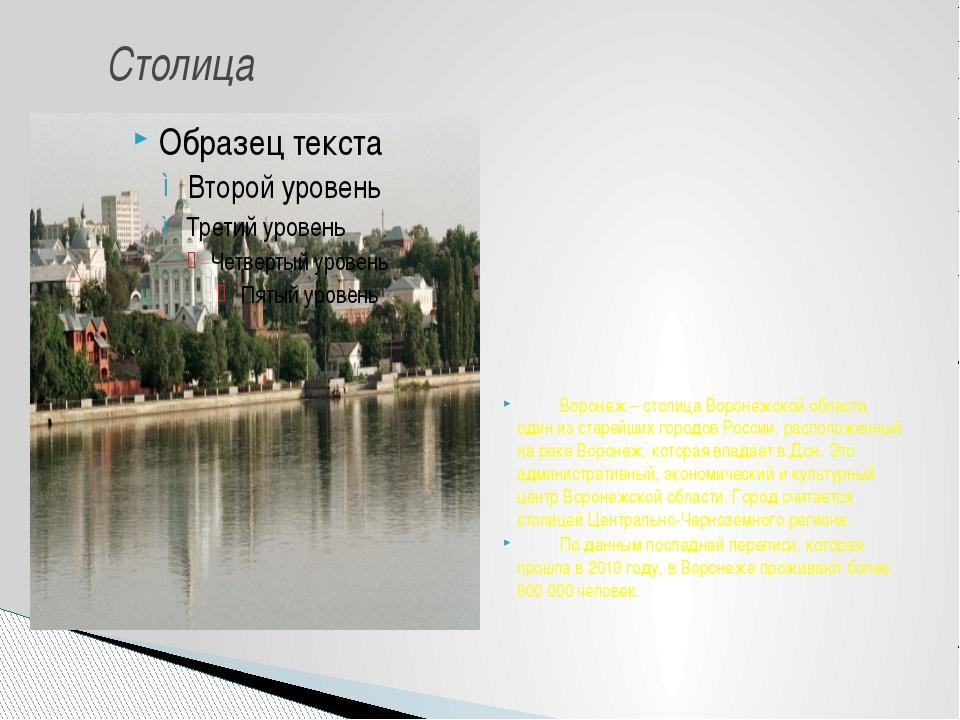 Воронеж – столица Воронежской области, один из старейших городов Ро...