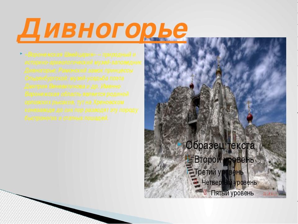 «Воронежская Швейцария» – природный и историко-археологический музей-заповедн...