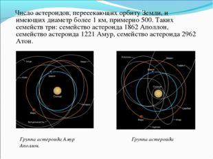 Число астероидов, пересекающих орбиту Земли, и имеющих диаметр более 1 км, п