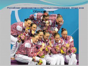 Российские синхронистки в групповых соревнованиях лучше всех