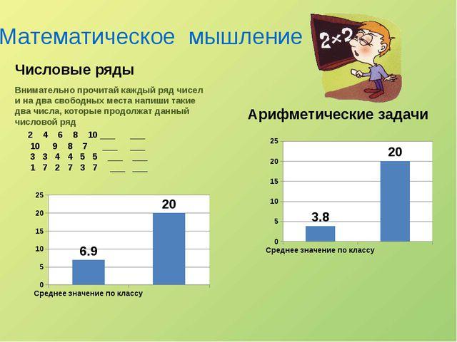 Математическое мышление Арифметические задачи Числовые ряды Внимательно проч...