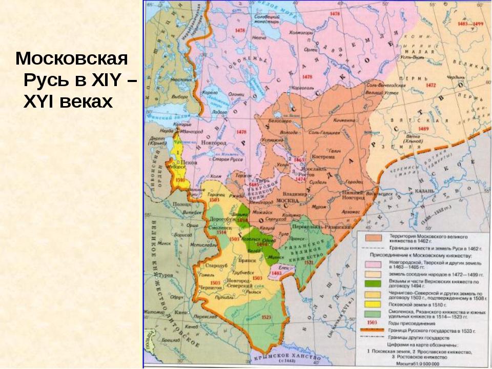 Московская Русь в ХIY –ХYI веках