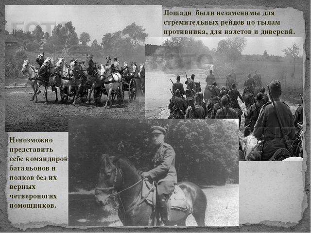 Невозможно представить себе командиров батальонов и полков без их верных четв...