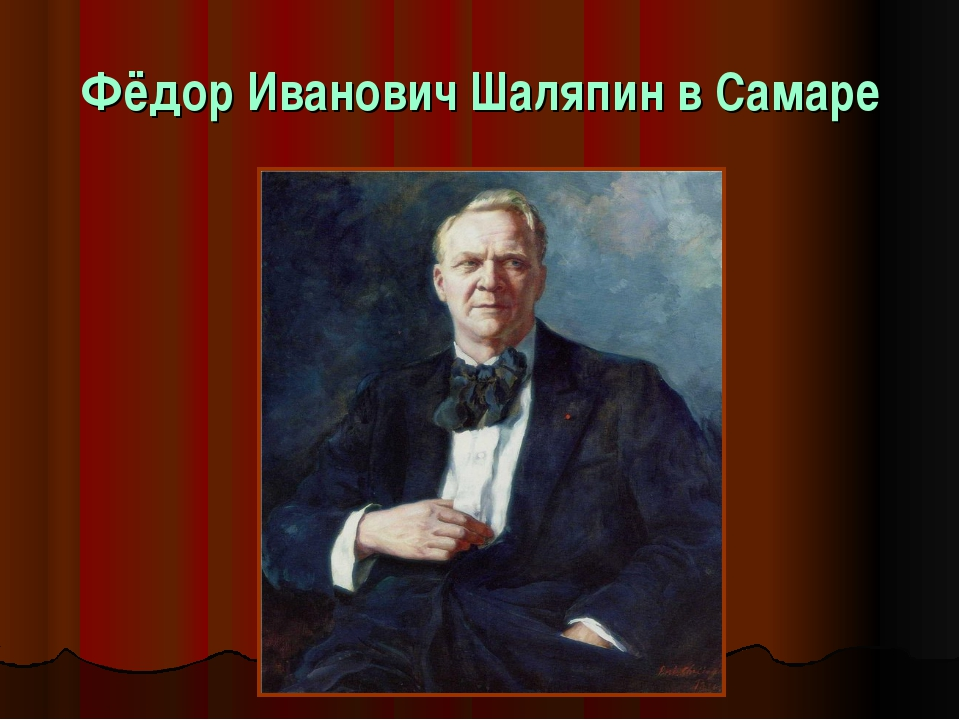 Фёдор Иванович Шаляпин в Самаре