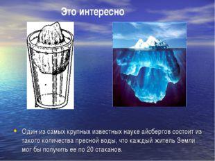 Один из самых крупных известных науке айсбергов состоит из такого количества
