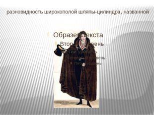 разновидность широкополой шляпы-цилиндра, названной по имени Симона Боли́вара.