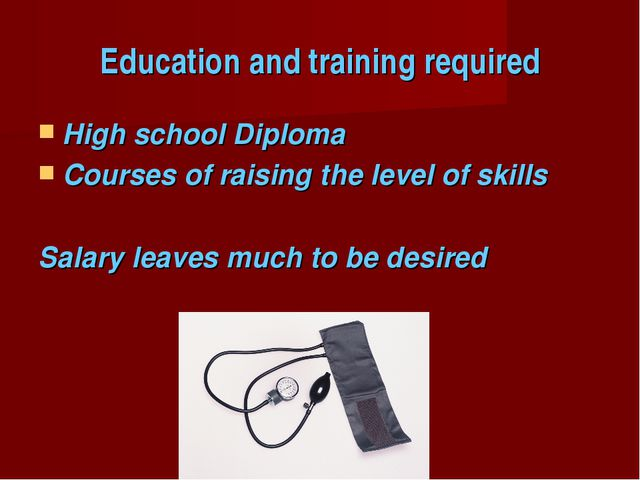 Education and training required High school Diploma Courses of raising the le...