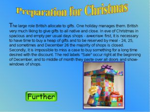 The large role British allocate to gifts. One holiday manages them. British v