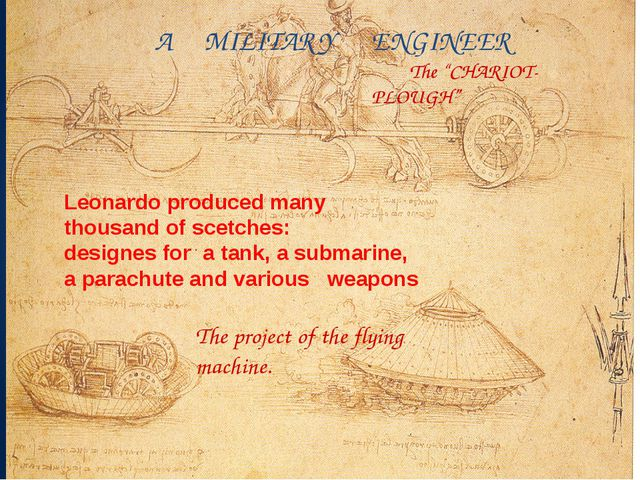 "The project of the flying machine. The ""CHARIOT- PLOUGH"" A MILITARY ENGINEER..."