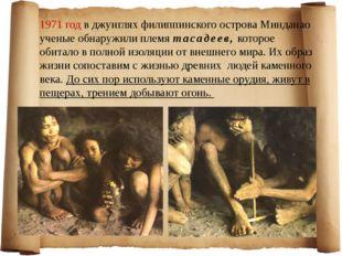 1971 год в джунглях филиппинского острова Минданао ученые обнаружили племя та