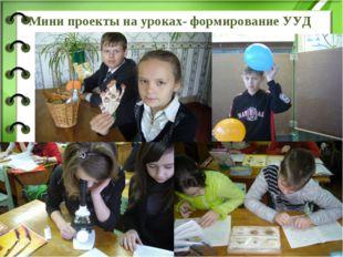 Мини проекты на уроках- формирование УУД