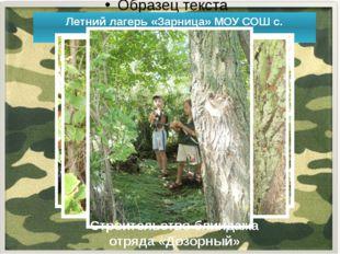 Летний лагерь «Зарница» МОУ СОШ с. Федоровка Строительство блиндажа отряда «
