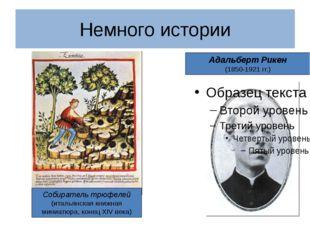 Адальберт Рикен (1850-1921 гг.) Немного истории Собиратель трюфелей (итальянс