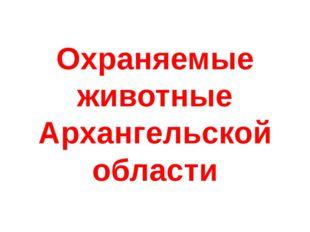 Охраняемые животные Архангельской области