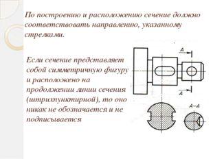 Если сечение представляет собой симметричную фигуру и расположено на продолже