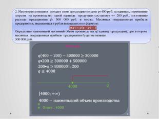 © Рыжова С.А.  2. Некоторая компания продает свою продукцию по цене р=400 ру