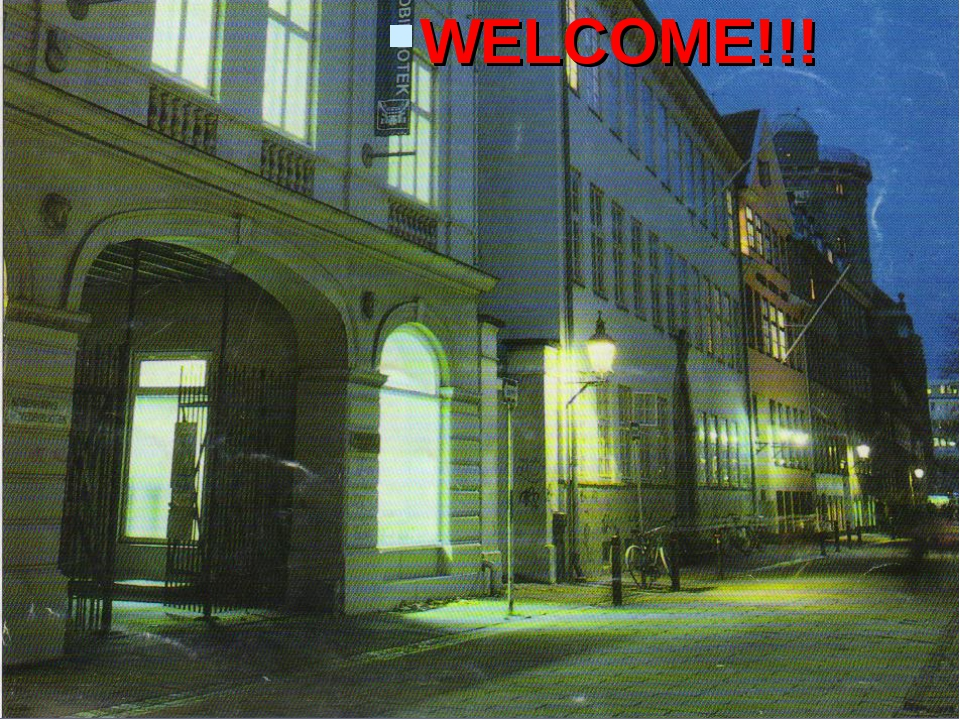 WELCOME!!! WELCOME!!!
