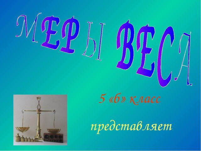 5 «б» класс представляет
