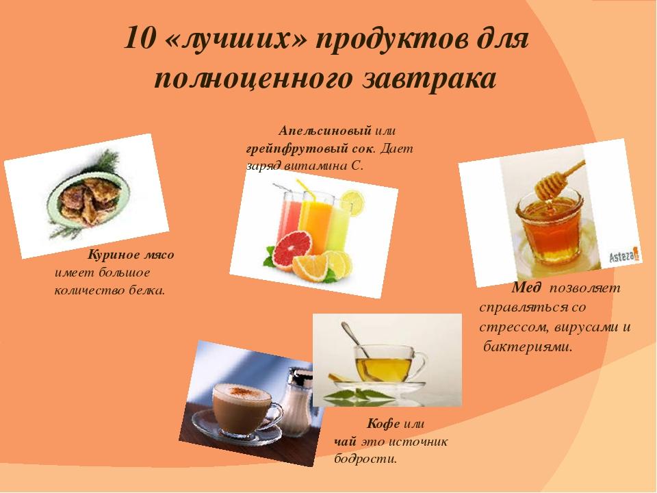 10 «лучших» продуктов для полноценного завтрака Апельсиновый или грейпфрутов...